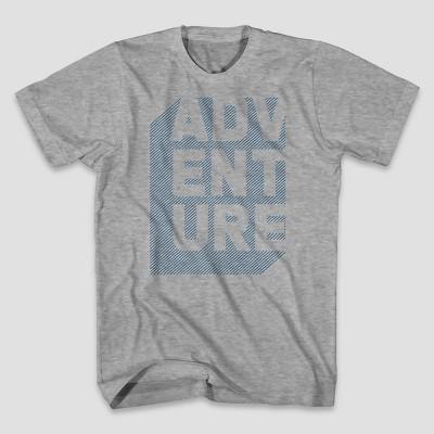Men's Short Sleeve Mountain Views Graphic T-Shirt Heather Grey L