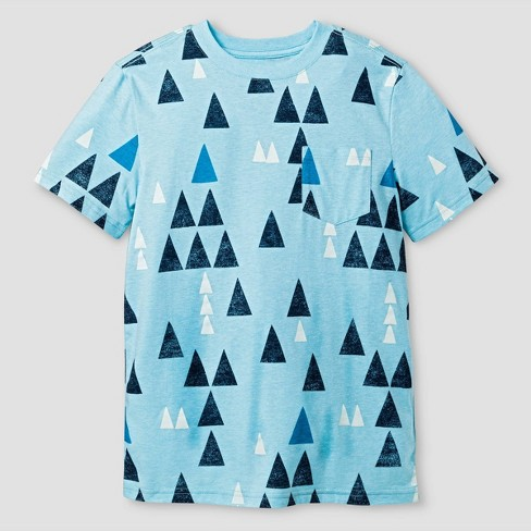 Boys' Texture Geo Print T-Shirt - Cat & Jack™ Blue XL - image 1 of 1