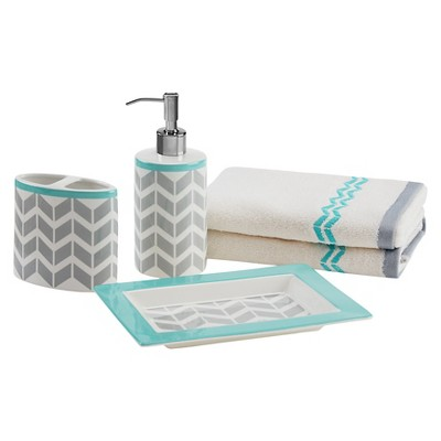 Bath Coordinate Set - Teal - (8.66X6.3X1 )