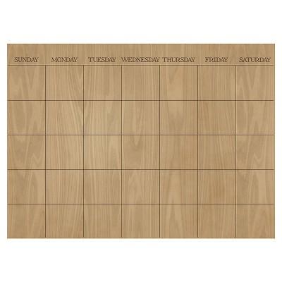 Wall Pops! ® Dry Erase Calendar Decal - Wood