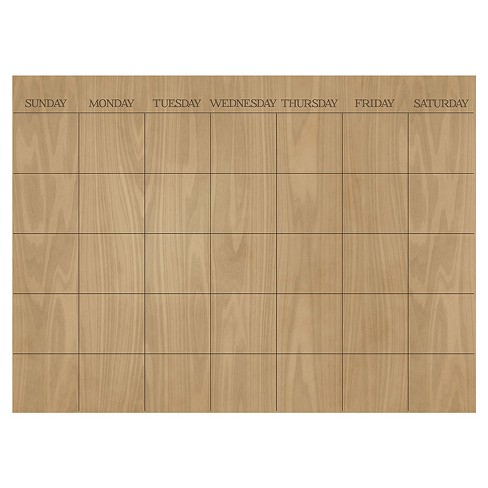 Wall Pops! ® Dry Erase Calendar Decal - Wood - image 1 of 2