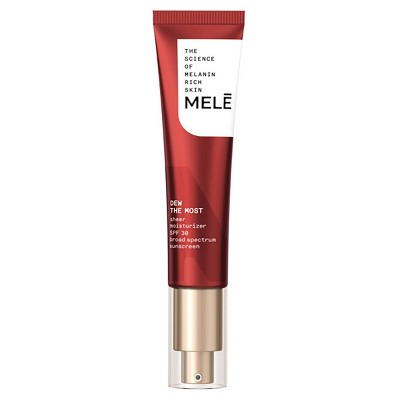 MELE Dew The Most Sheer Facial Moisturizer with SPF 30 Sunscreen for Melanin Rich Skin - 1 fl oz
