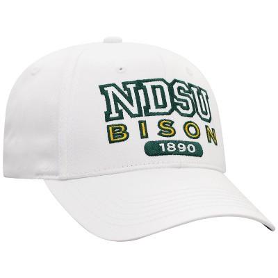 NCAA North Dakota State Bison Men's White Twill Structured Snapback Hat
