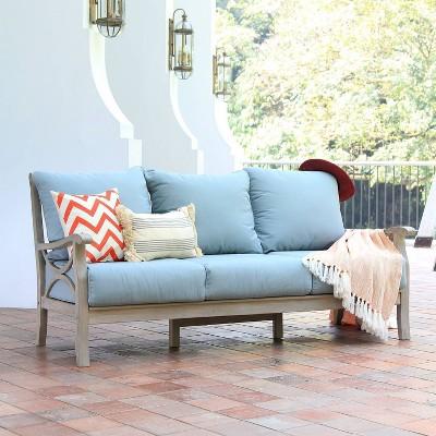 Abbington Teak Patio Sofa with Cushion - Cambridge Casual