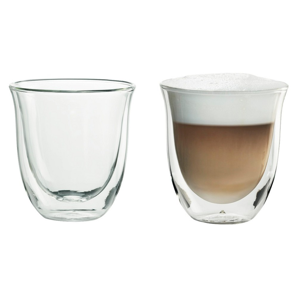 Image of Delonghi Cappuccino Cups 2pk, Glass