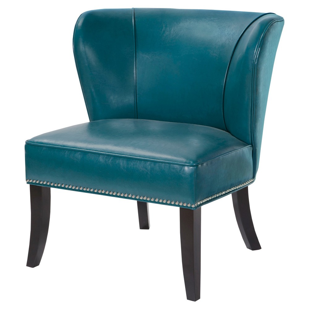 Hilton Concave Back Armless Chair - Peacock Blue, Peacock Green
