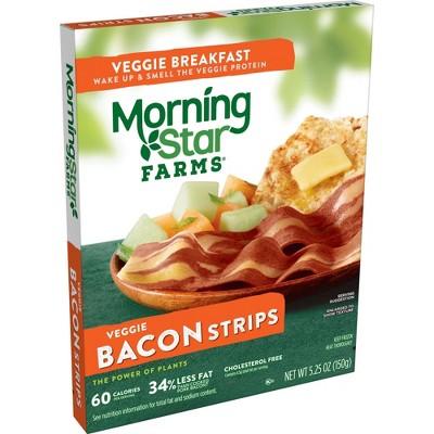 Morningstar Farms Veggie Breakfast Bacon Frozen Strips - 5.25oz