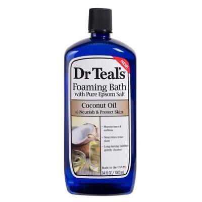 Dr Teal's Pure Epsom Salt Nourish & Protect Coconut Oil Foaming Bath - 34 fl oz