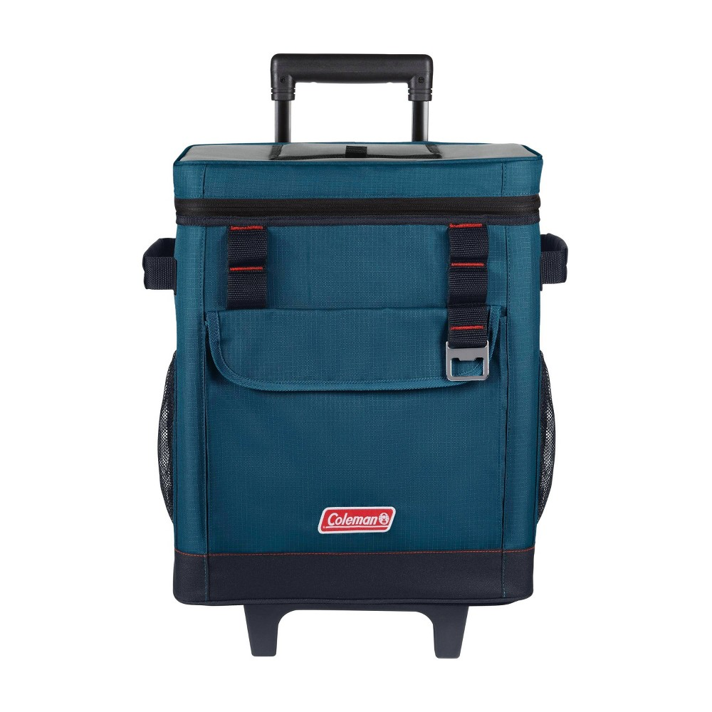 Coleman 42 Can Soft Cooler With Wheels Space Blue