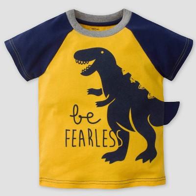 Gerber Baby Boys' 'Be Fearless' Short Sleeve T-Shirt - Yellow 12M