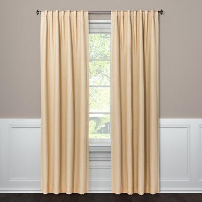 "63""x50"" Blackout Curtain Panel Small Check Tan - Threshold™"