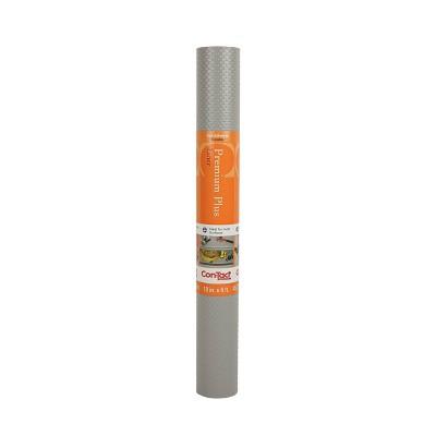 Con-Tact Brand Embossed Grip Premium Non-Adhesive Shelf Liner Gray
