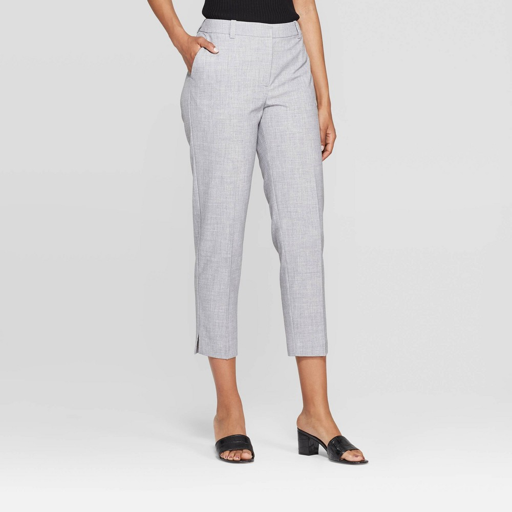 Women's Mid-Rise Straight Leg Ankle Length Relaxed Trouser - Prologue Gray 16