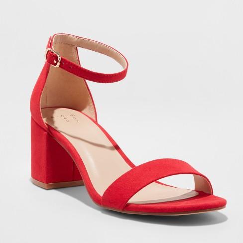 Women's Michaela Mid Block Heel Sandal Pumps - A New Day™ - image 1 of 4