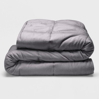 Sealy 48  x 72  Microplush 12lb Weighted Blanket Gray