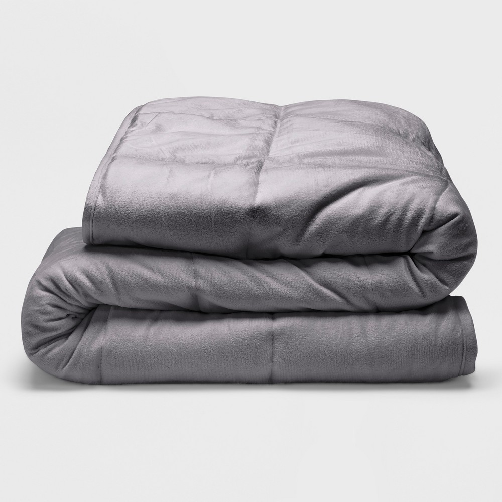 """Image of """"Sealy 48"""""""" x 72"""""""" Microplush 12lb Weighted Blanket Gray"""""""