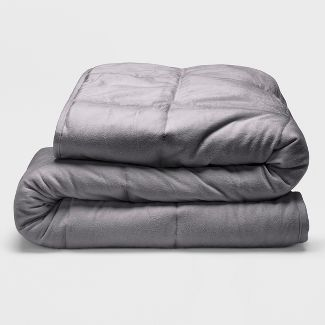 Sealy 48u0022 x 72u0022 Microplush 12lb Weighted Blanket Gray