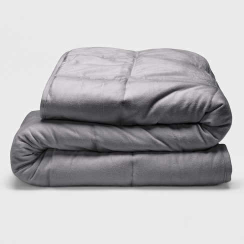 Sealy 48 X 72 Microplush 12lb Weighted Blanket Gray Target