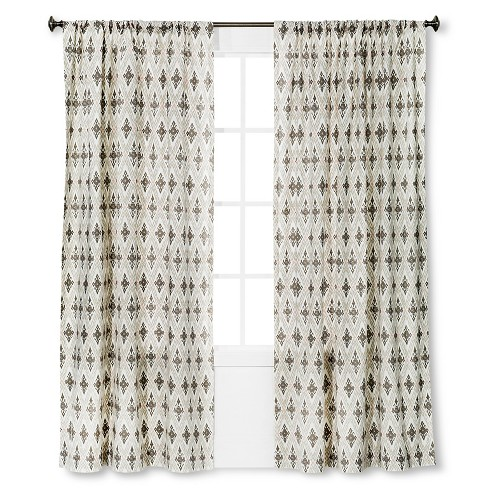Diamond Ikat Curtain Panel - Threshold™ - image 1 of 1