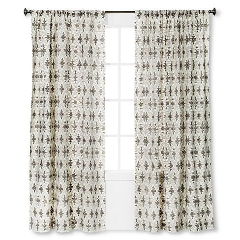 "Diamond Ikat Window Curtain Panel Tan (54""x95"") - Threshold™ - image 1 of 1"