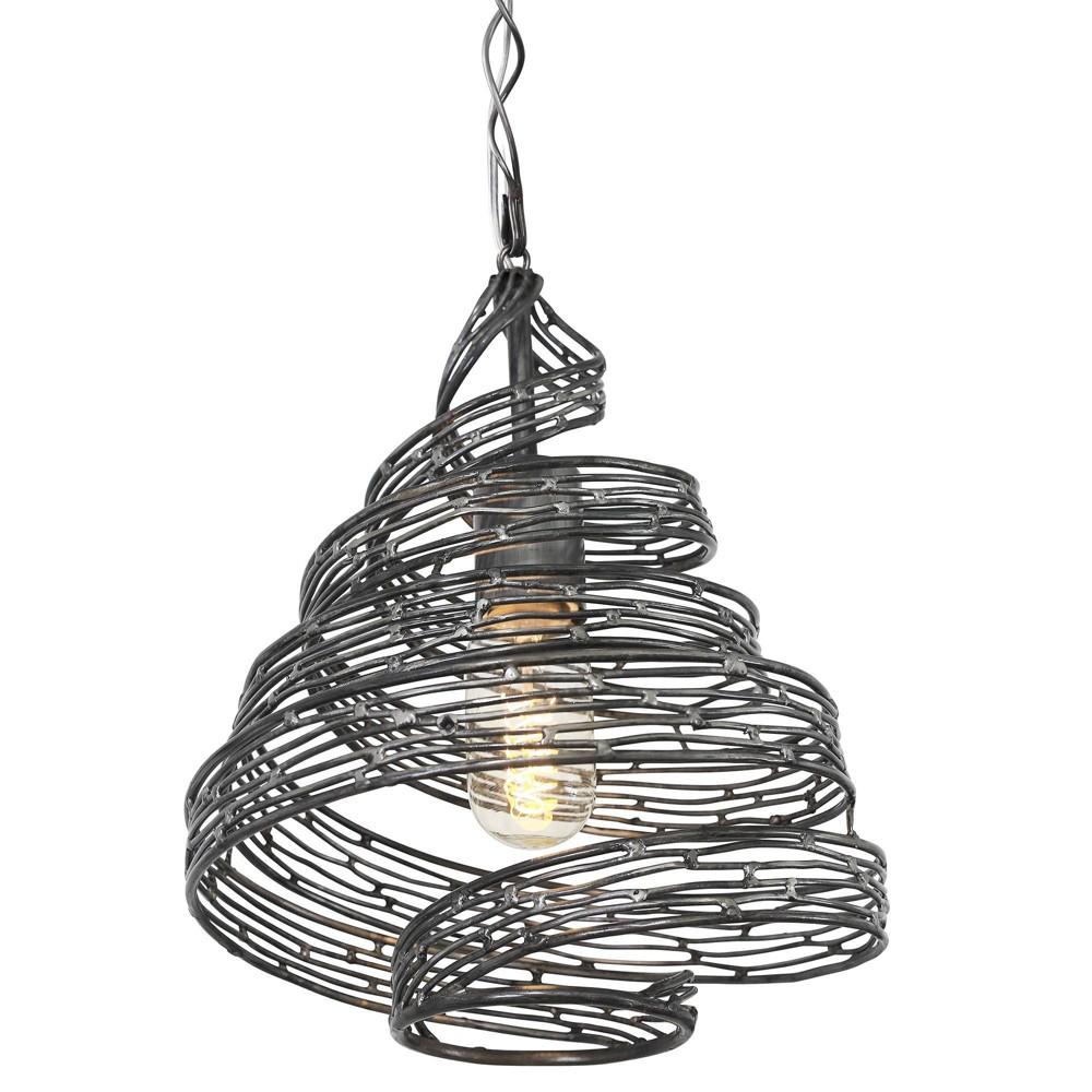 Flow 1 Light Twist Mini Pendant - Steel (Silver)