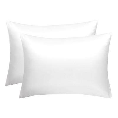 "2 Pcs 20""x30"" Silk Satin Envelope Pillow Cases Snow White - PiccoCasa"