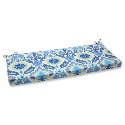 Outdoor Seat Pillow Perfect Bench Cushion - Blue/Off-White