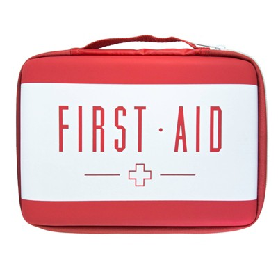 Band-Aid Brand Build Your Own First Aid Kit Red Bag
