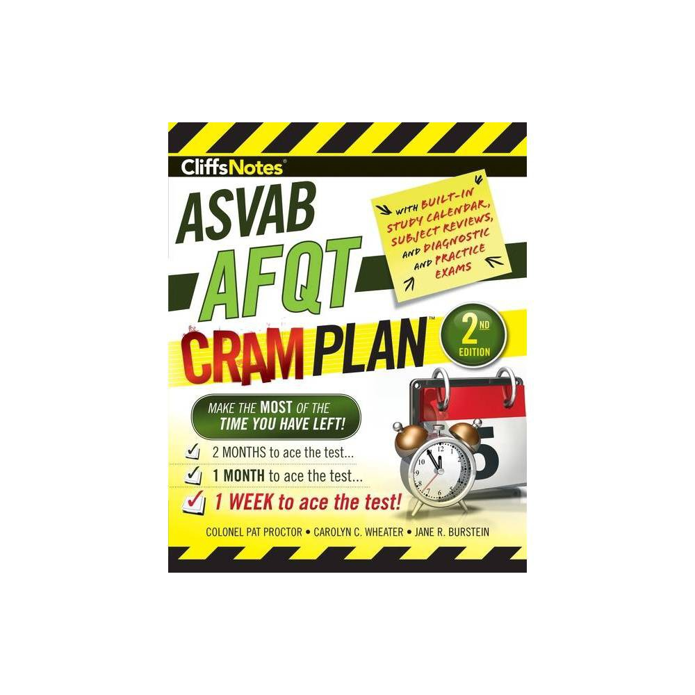 Cliffsnotes Asvab Afqt Cram Plan 2nd Edition By Pat Proctor Carolyn C Wheater Jane R Burstein Paperback