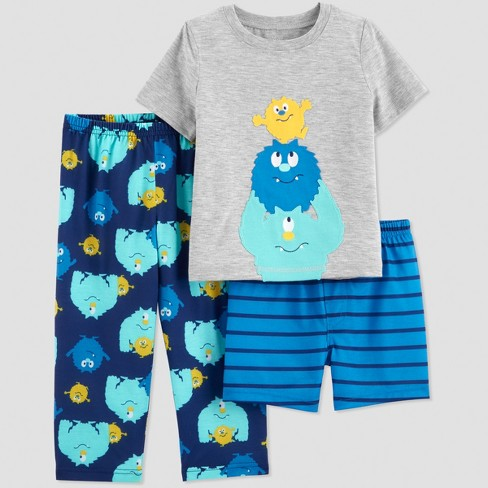 26b418c50 Baby Boys  3pc Monsters Pajama Set - Just One You® Made By Carter s ...