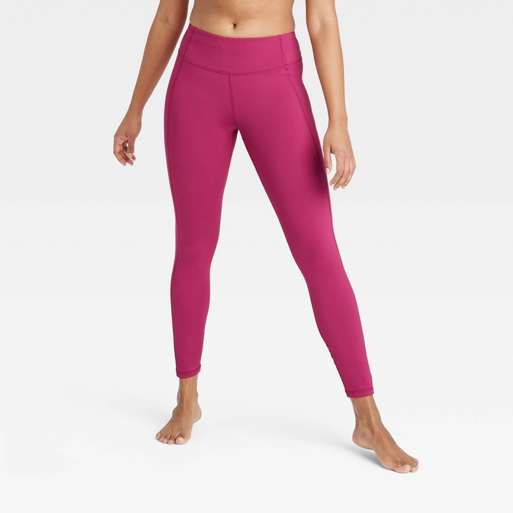 Women 39 S Simplicity Mid Rise Leggings All In Motion 8482 Cranberry Xl