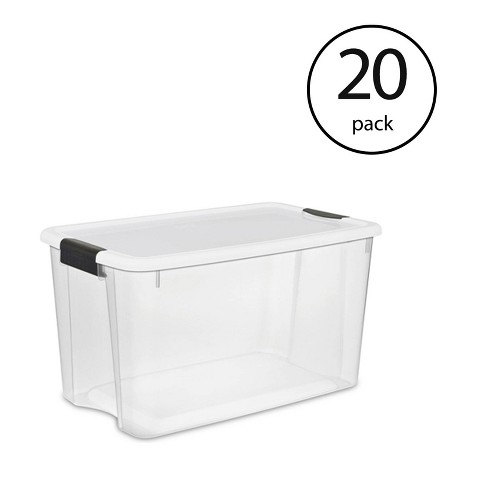 Sterilite 116 Quart Ultra Latching Clear Plastic Storage Tote Container, 20 Pack - image 1 of 4