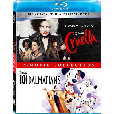 Cruella/One Hundred One Dalmatians: 2-Movie Collection (Blu-ray + DVD + Digital)