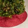 Saro Lifestyle Embroidered Design Christmas Tree Skirt - image 4 of 4
