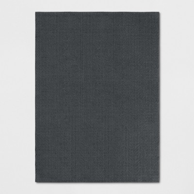 """4'X5'6"""" Solid Washable Accent Rug Gray - Made By Design™"""