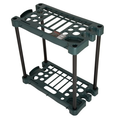 Stalwart Compact Garden Tool Storage Rack with 30 Tools capacity Black