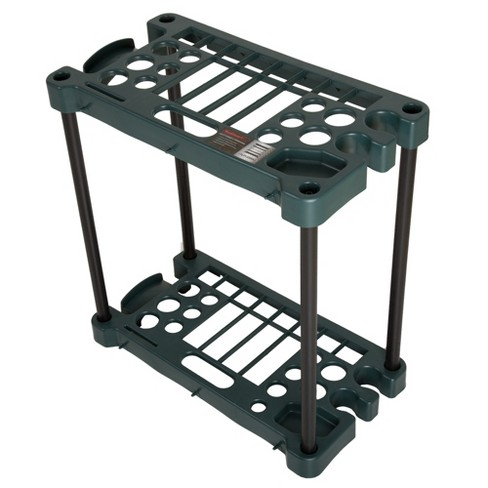 Stalwart Compact Garden Tool Storage Rack with 30 Tools capacity Black - image 1 of 3