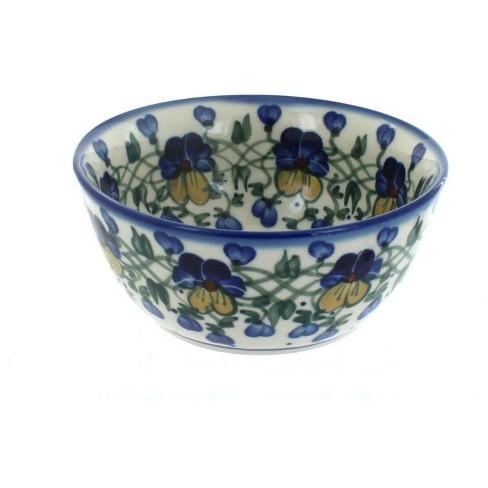 Blue Rose Polish Pottery Pansies Cereal Bowl Target