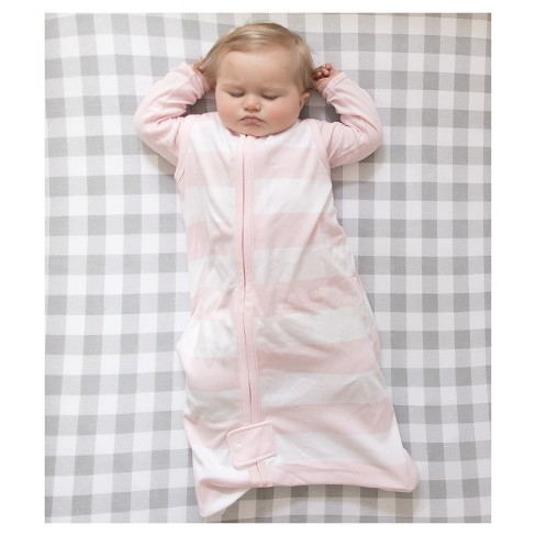 ebc99115a0c Burt s Bees Baby® Beekeeper™ Wearable Blanket Organic Cotton - Rugby  Stripes - Pink   Target