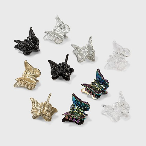 Butterfly Claw Clip Set 10pc - Wild Fable™ - image 1 of 1