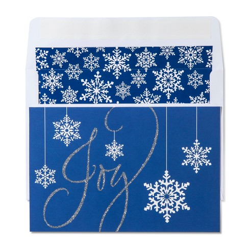 American Greetings 40ct Joy with Snowflakes Holiday Boxed Cards - image 1 of 1