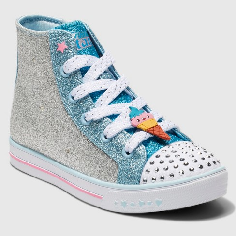 f5f7fd93ac0e Toddler Girls  S Sport By Skechers Zelena Crystal Stars Light Up Sneakers -  Silver   Target