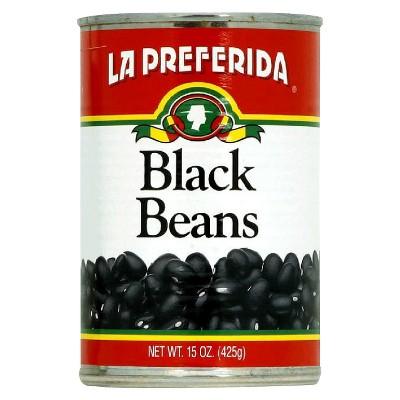 Beans: La Preferida Black Beans Canned