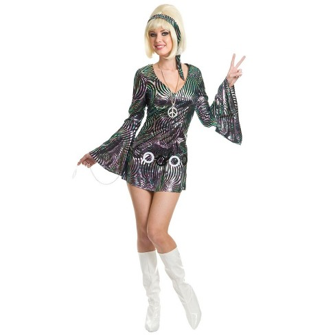 Charades Psychedelic Swirl Disco Diva Costume (Size XL) - image 1 of 1