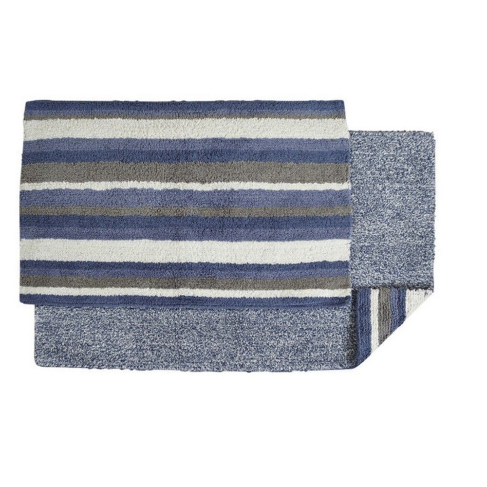 """Image of """"Bath Rug Blue White Gray Better Trends, Size: 21x34"""""""""""""""