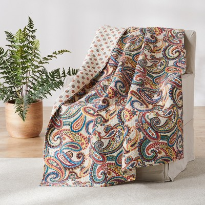 Alyssa Paisley Quilted Throw - Levtex Home