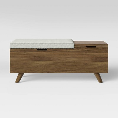 Meller Wood And Upholstered Storage Bench Light Gray - Project 62™