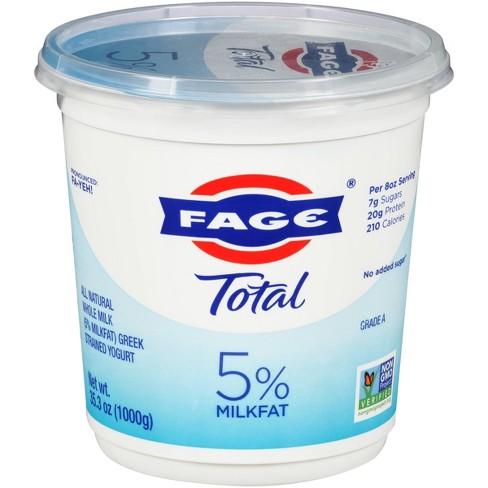 FAGE Total 5% Milkfat Plain Greek Yogurt - 35.3oz - image 1 of 3