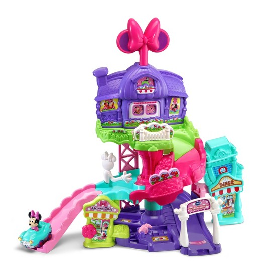 VTech Disney Go! Go! Smart Wheels Minnie Mouse Around Town Playset image number null