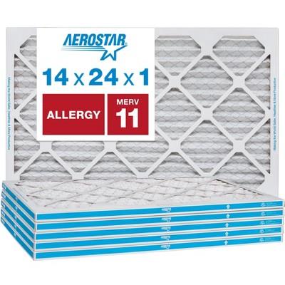 Aerostar AC Furnace Air Filter - Allergy - MERV 11 - Box of 6
